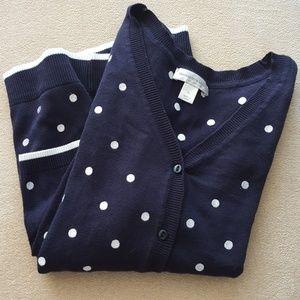 CHRISTOPHER & BANKS 100% cotton cardigan size XL